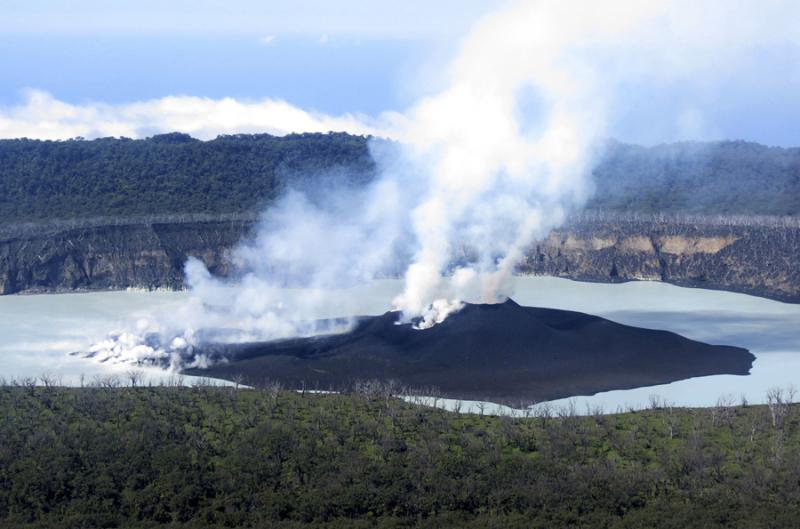 Volcano emerging in Vanuatu