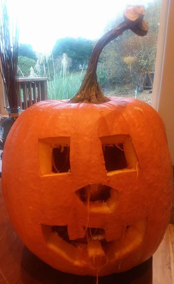 O's pumpkin  designed by him