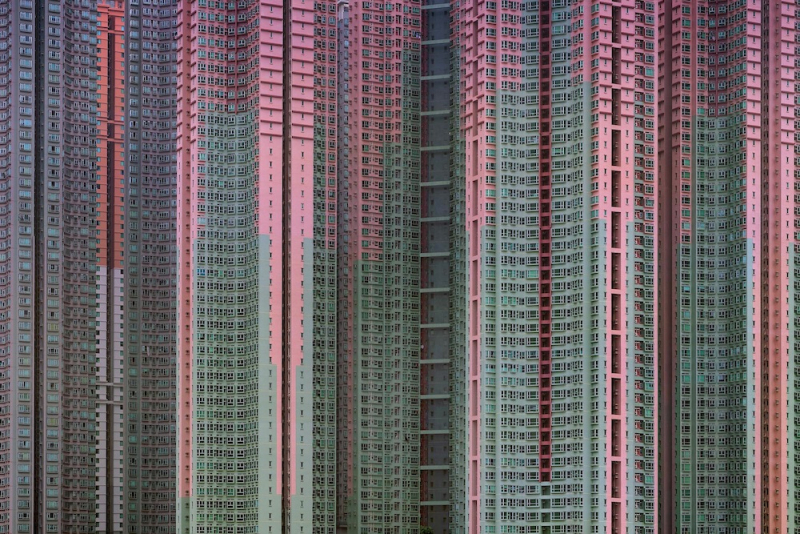 Hong Kong's massive highrise neighborhoods