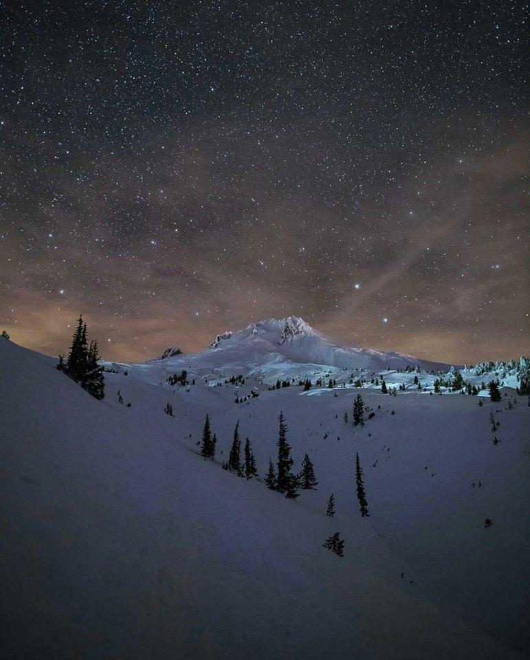 Dusk on Mount Hood