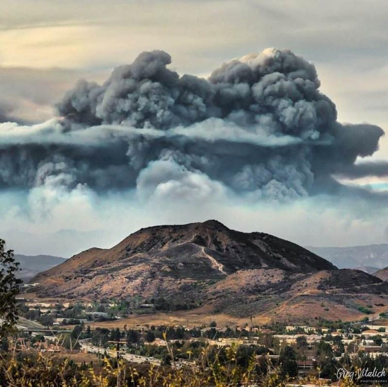Smoke over Santa Barbara