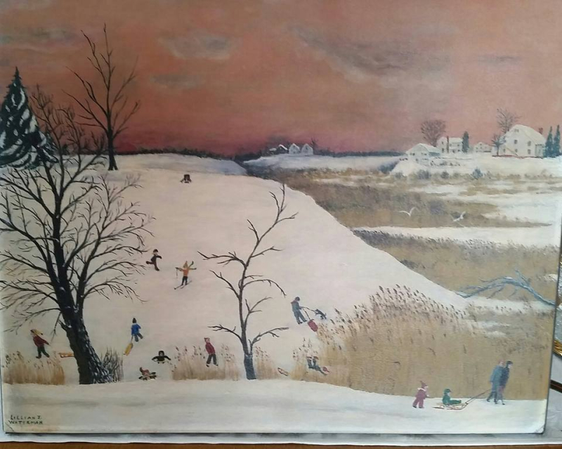 Painting of Boggs Hill  Keyport