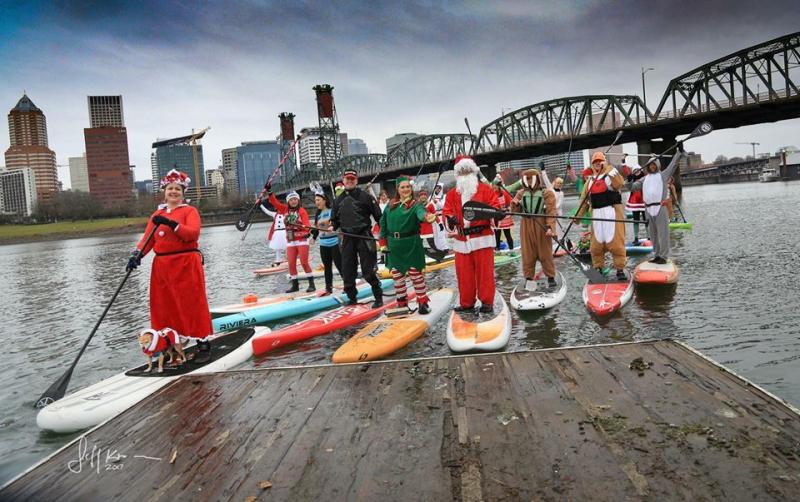 Christmas rowing