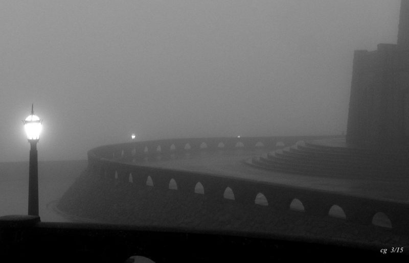 Foggy night at Crown Point
