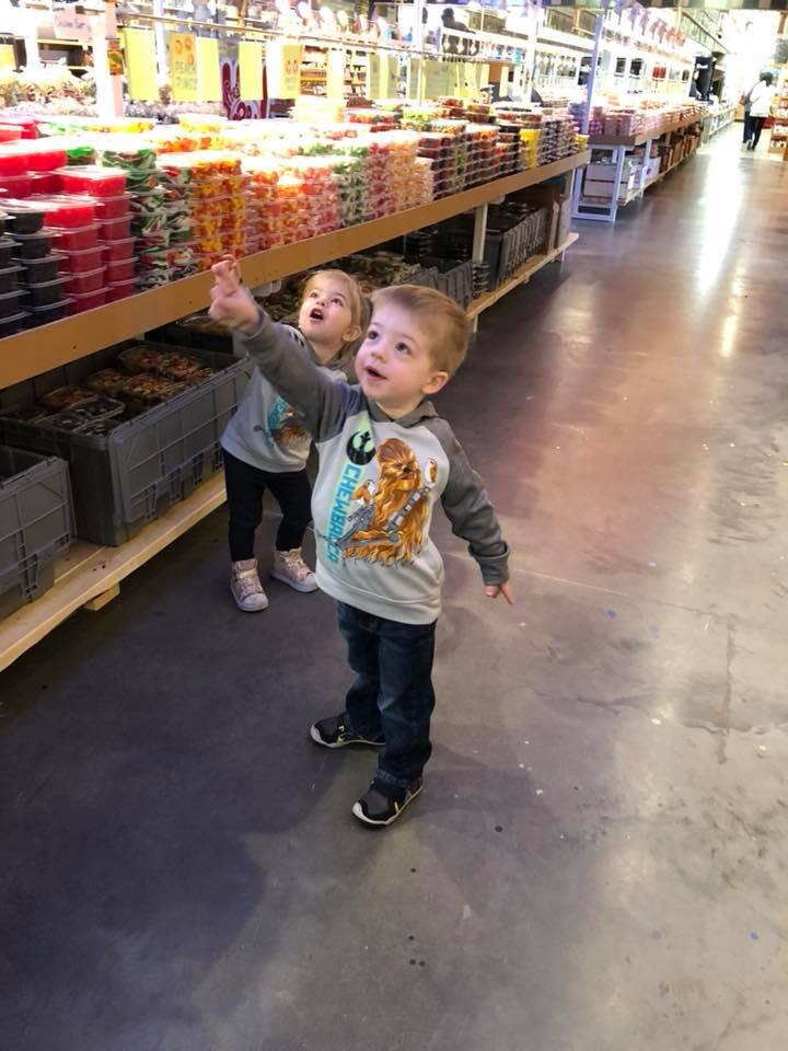 Children at The Biggest Candy Store In The World