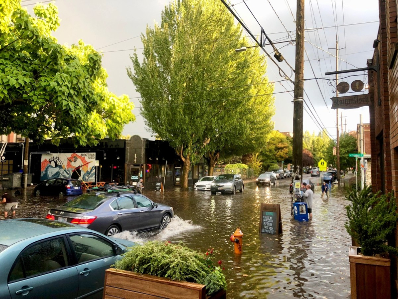 Flooding in Portland