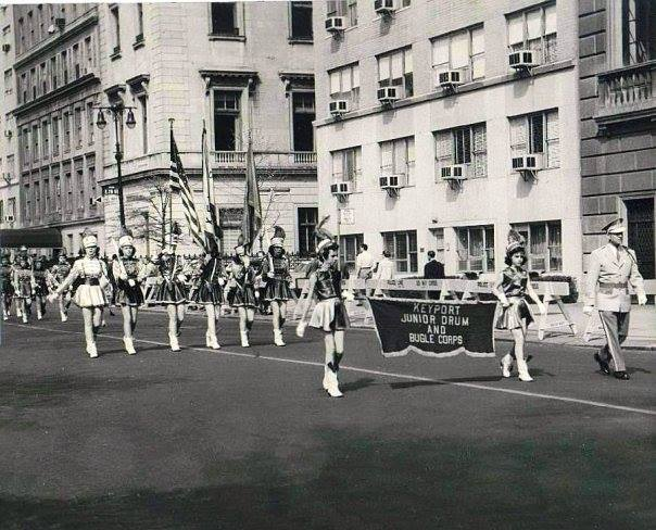 Keyport Drum & Bugle Corp marching in NYC