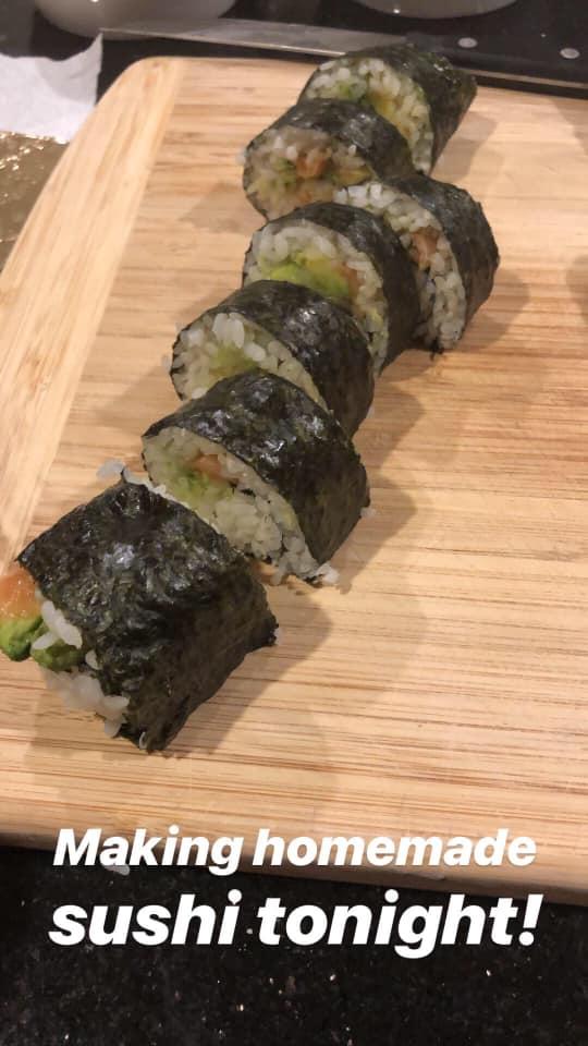 Robin's homemade sushi