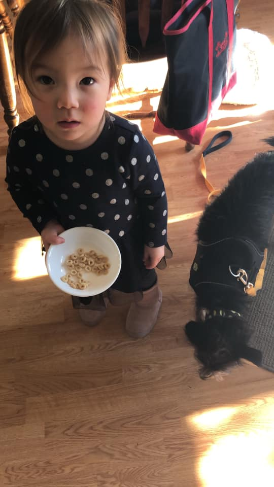 Kinsley with cheerios